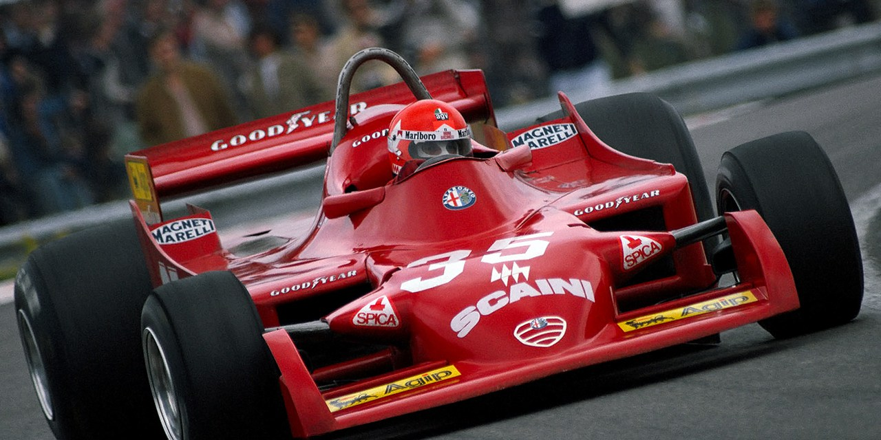 Bruno Giacomelli on Alfa Romeo, French GP, Dijon-Prenois 1979
